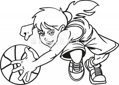 Basketball Clip Art Black and White
