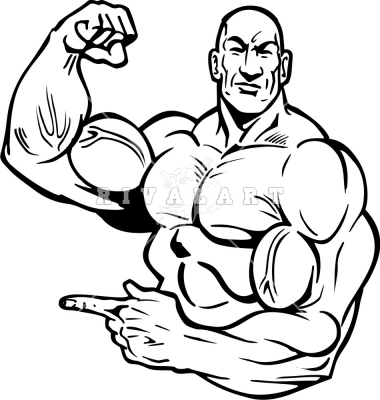 muscle man coloring pages - photo#18
