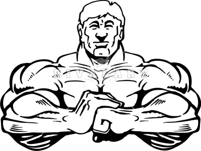 muscle man coloring pages - photo#42