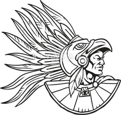 Aztec Headdress Template
